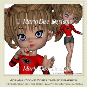 Adriana Cookie Poser Graphics by MarloDee Designs