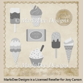 Iced Treats PSD Layered Templates 2