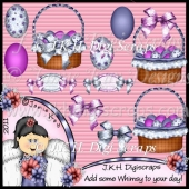 Pretty Blue Easter CU Clipart Collection