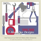 His Tools Clip Art by MarloDee Designs
