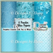 Powder Blue Scrap/ Backing Papers