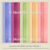 Hugging My Baby Card Stock Digital Papers