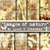 """IMAGES OF NATURE"" 8 digital A4 background papers CU OK"