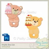 Template Bear Cake Pathy Santos