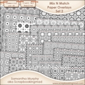 Mix N Match Paper Overlay Set 2 - PNG FILES & .PAT File - CU OK
