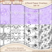 Floral Paper Overlays - Set 14 - PNG FILES - CU OK