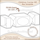 Christmas Cracker Gift Box Template CU OK