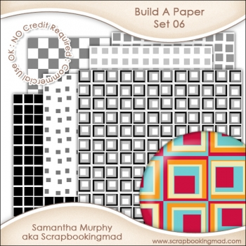 Build A Paper Set 06 - PNG FILES & .PAT File - CU OK