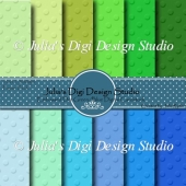 ***NEW*** Digital Cardstock Pack, Blue and Green