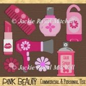 Pink Beauty Products clipart