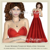 Elsie Woman Poser Graphics by MarloDee Designs