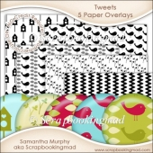 Tweets Paper Overlays - PNG FILES - CU OK