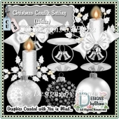 Christmas Candle Setting (White)