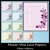 Flower Vine Lace Papers