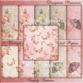 Designer Resource 10 Vintage 8x8 Papers