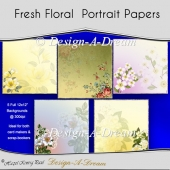 Fresh Floral Portrait Papers