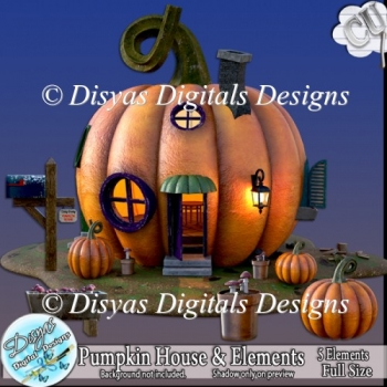 PUMPKIN HOUSE AND ELEMENTS CU PACK - FULL SIZE