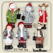 CU Vol. 214 Winter Animals Kids by Lemur Designs