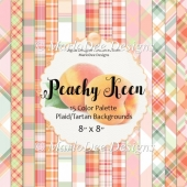 Peachy Keen 8x8 Color Palette Plaid Pattern Backgrounds