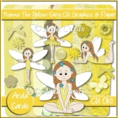 Nienna The Yellow Fairy CU Graphics And Paper