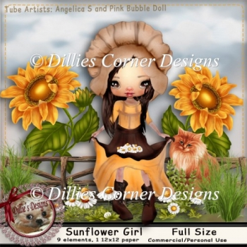SunFlower Girl 1