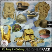 War, Army, clothing 10 elements & 1 paper