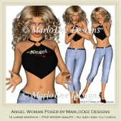 Angel Woman Poser Graphics by MarloDee Designs