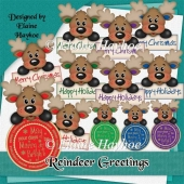 Reindeer Greetings Topper Sentiments