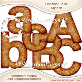 Leather Look Upper & Lower Case Letters - CU OK