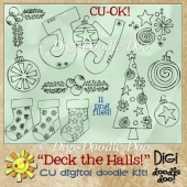 Christmas - Deck the Halls! CU doodles