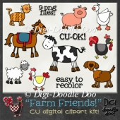 Farm Friends! CU clipart