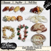 SEA SHELLS II CU4CU PACK - FULL SIZE