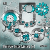 CU Green Steampunk Elements 15/1
