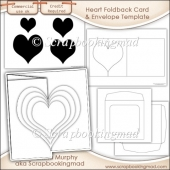 6X6 Heart Foldback Card Kit Templates Commercial Use