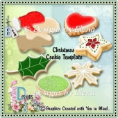 Christmas Cookie Template-CU