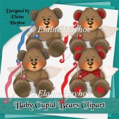 Baby Cupid Bears Clipart