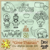 Give Thanks! Thanksgiving CU doodles