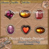 ASSORTED GEMS N RINGS CU PACK