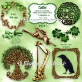 Celtic Harp, Hare, Tree of Life, Raven, Shamrock, Celtic Knot CU
