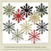 Christmas Holiday Package 2 Snowflakes
