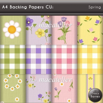 A4 Backing Papers: Spring