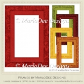 Fall Season 1 Colors Frame Graphics pkg 1