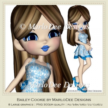 Bailey Cookie Poser Graphics by MarloDee Designs