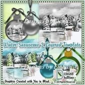 Winter Snowscene 2 Layered Template