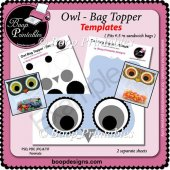 Owl Bag Topper Wrap by Boop Printable Designs