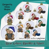 Bear Glass Baubles Clipart