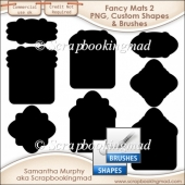 Fancy Mats 2 Templates - PNG - Custom Shapes .CSH - Brushes .ABR