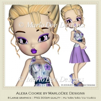 Alexa Cookie Poser Graphics by MarloDee Designs