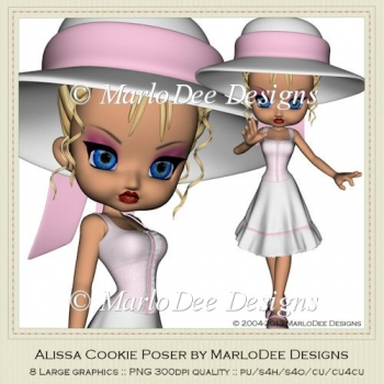 Alissa Cookie Poser Graphics by MarloDee Designs