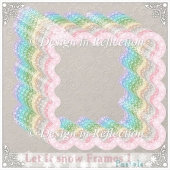 Let It Snow - Pastel Frames I